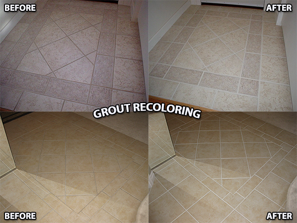 TILESTONE FINISHING SYSTEMS OF KELOWNA RESTORES, REPAIRS AND RECOLORS GROUT
